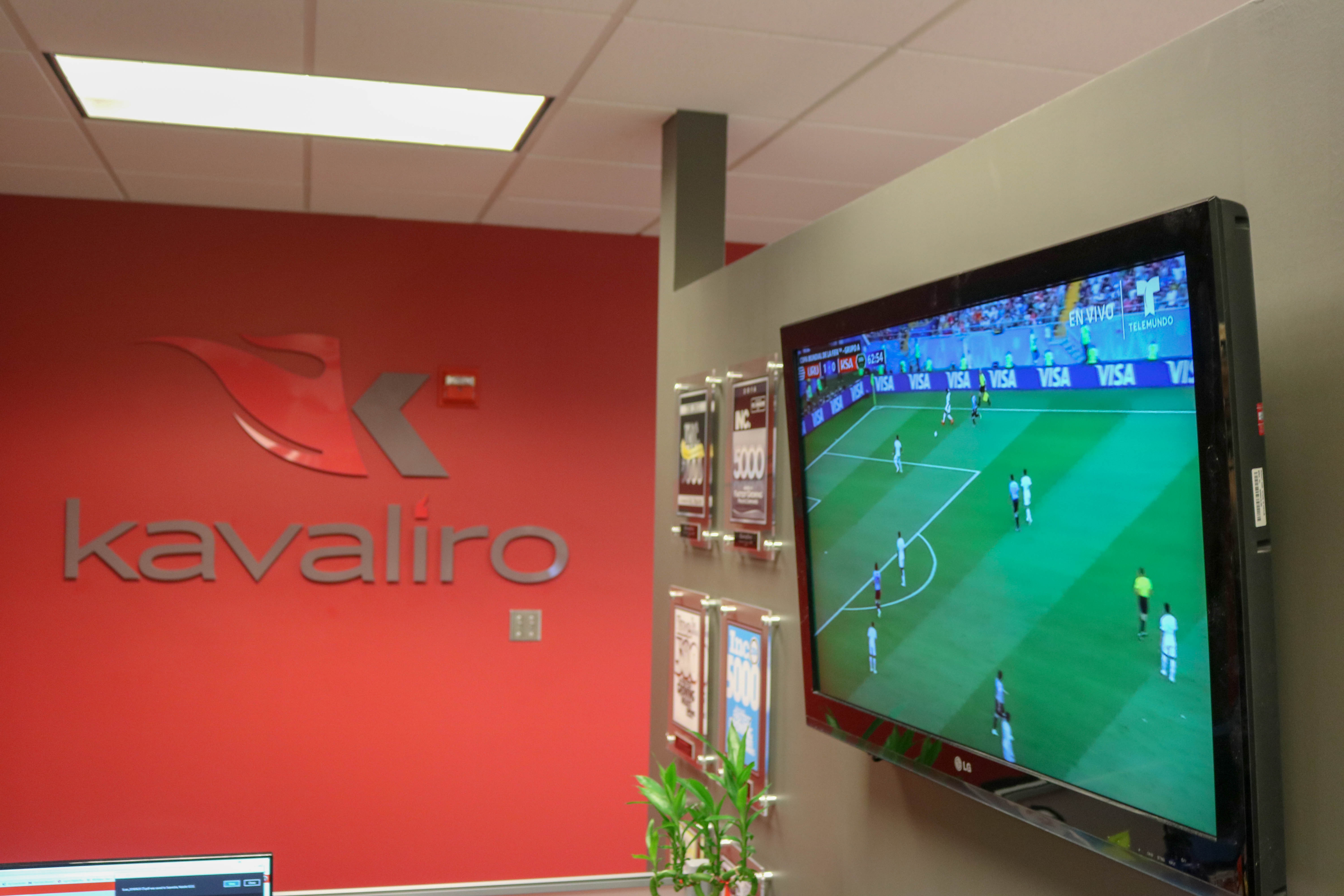 Office TV's on the World Cup at all times!