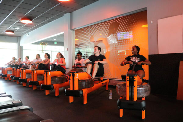 Kavaliro suffering through Orange Theory Fitness