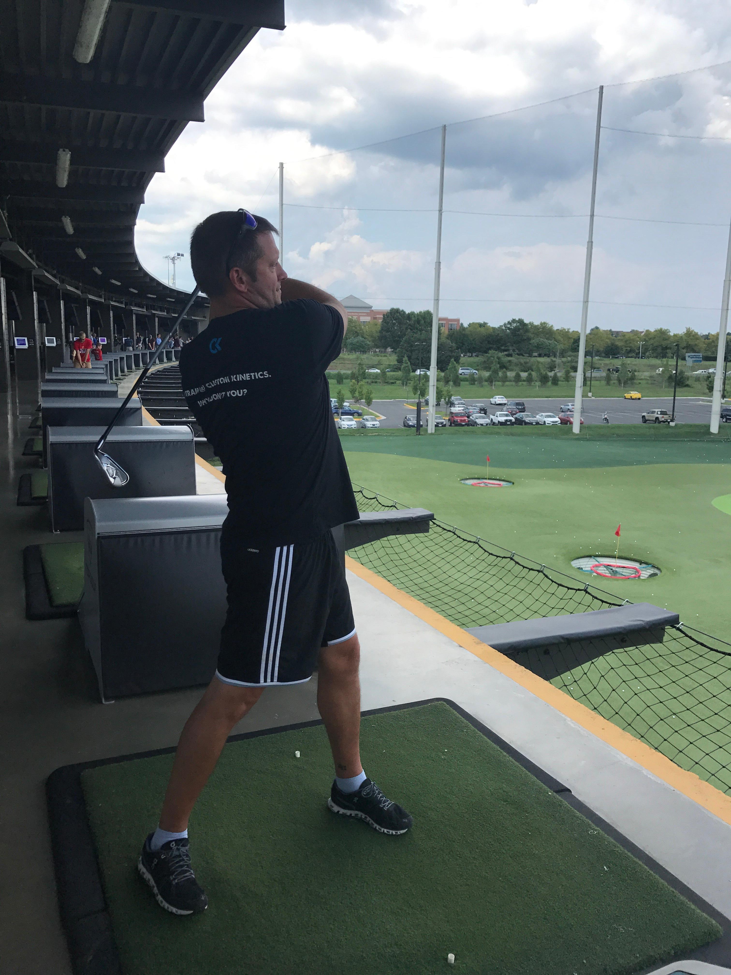 Chris Swisher at Top Golf with Kavaliro