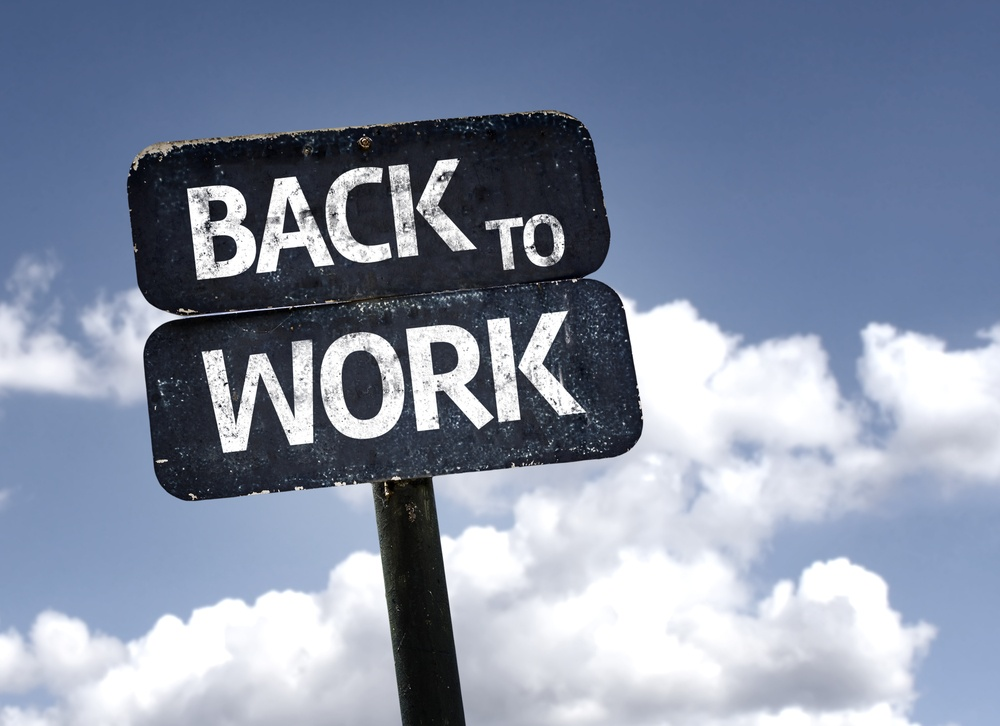 Get back to work with these 8 tips