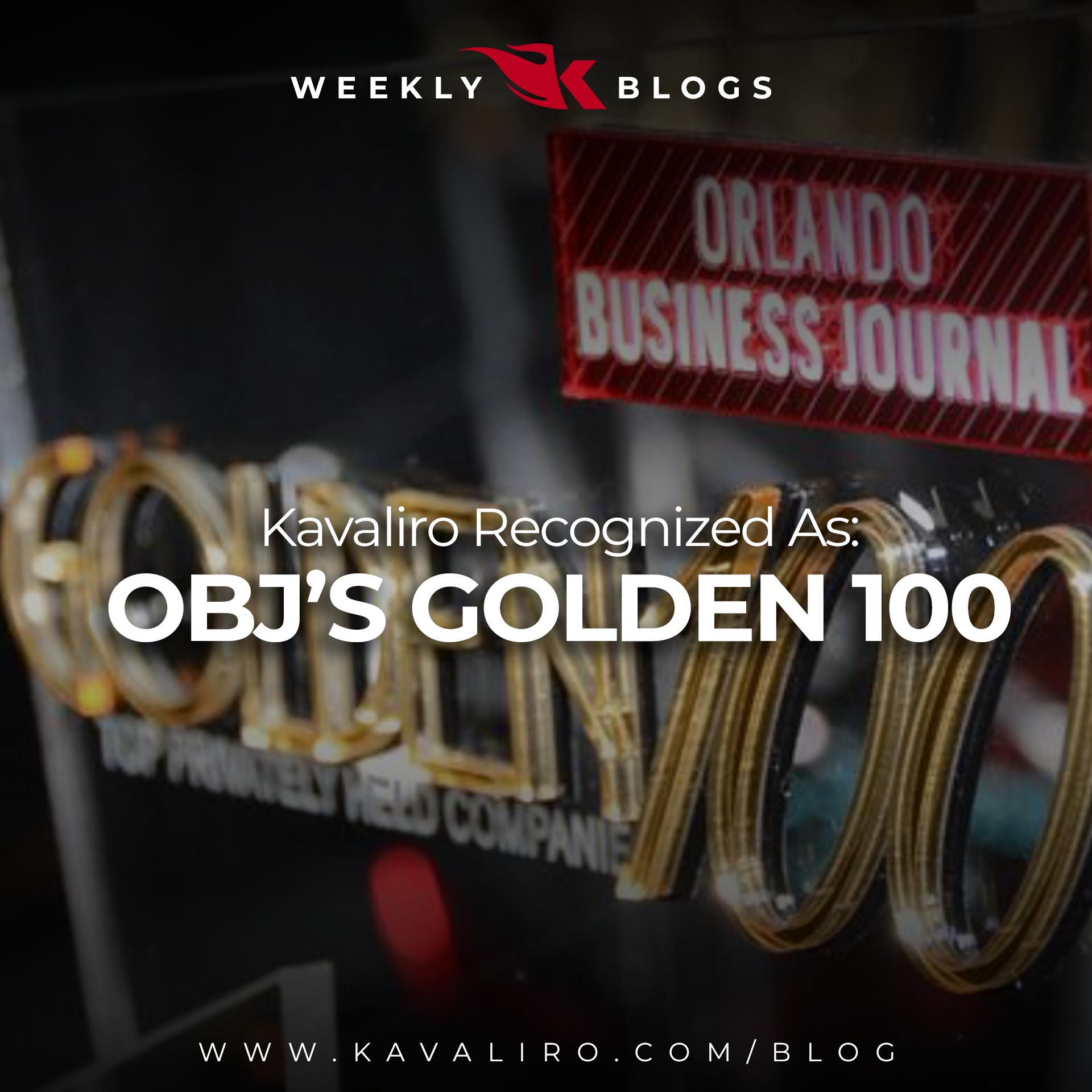 Kavaliro Named One of Orlando Business Journal's Golden 100 in 2021