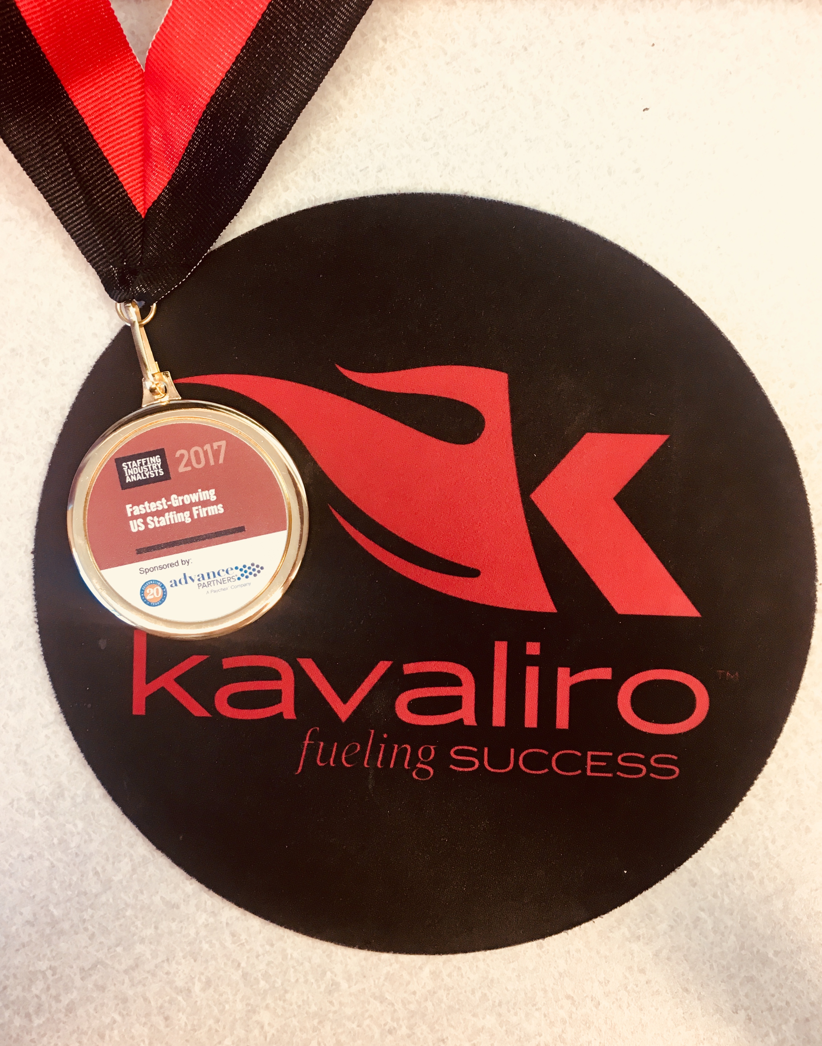 Kavaliro Named A Best Staffing Firm To Work For by Staffing Industry Analyst